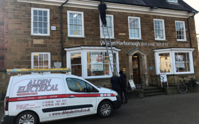 Alden & Market Harborough Building Society light up town in act of remembrance